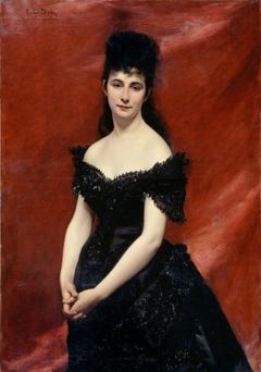 Portrait de Léonie Dufresne, baronne le Vavasseur, puis marquise de Vaucouleurs de Lanjamet