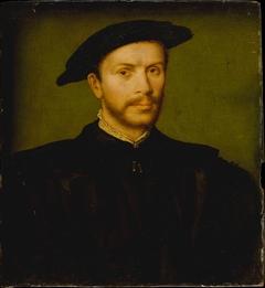 Portrait of a Bearded Man in Black