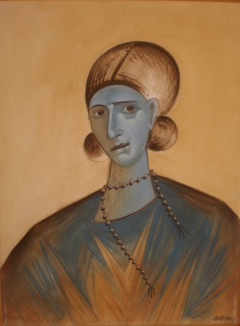 portrait of a byzantine lady