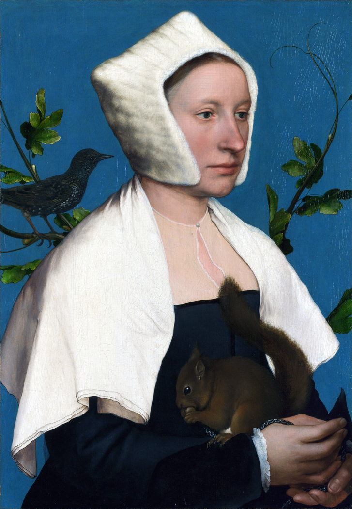 Portrait of a Lady with a Squirrel and a Starling