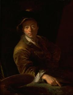 Portrait of a Painter (presumably C. L. Agricola, 1667-1719)