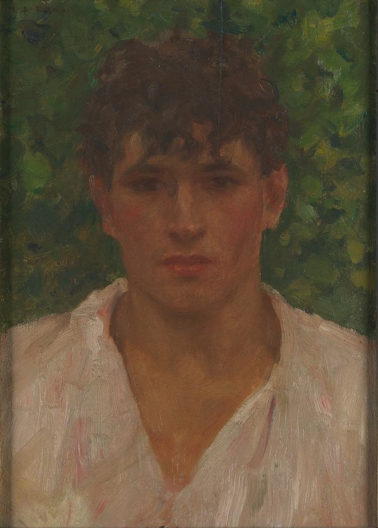 Portrait of a Young Man with Open Collar