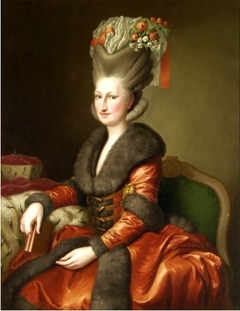 Portrait of Maria Amalie Auguste of Saxony in Polish costume.