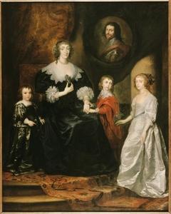 Portrait of the widow of the Duke of Buckingham Duke and her children