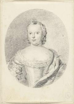Portret van Carolina, prinses van Oranje-Nassau
