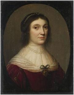 Portret van een onbekende vrouw uit het geslacht Burmania?
