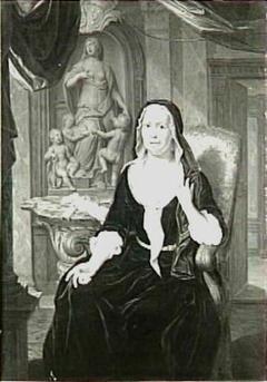 Portret van Elisabeth Mettina Saagmans (1672-1749), echtgenote van Jacob Adriaan Cunaeus