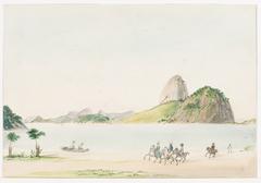 Praia de Botafogo com Pão de Açúcar (atribuído)