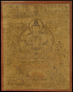 Sadaksari-Lokeshvara Surrounded by Manifestations and Monks