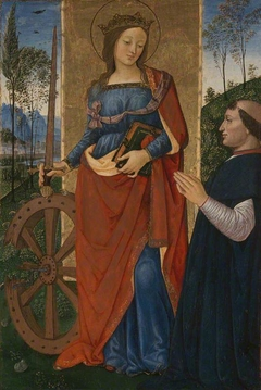 Saint Catherine of Alexandria with a Donor