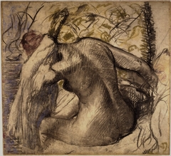 Seated Nude Woman Drying Her Hair (Femme nue assise s'essuyant les cheveux)