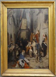 Siegesfeier im Jahr 1870