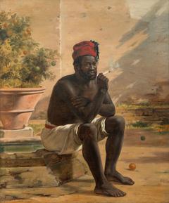 Sitting Nubian