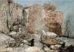 Snow Effect in a Quarry