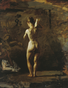 """Study for """"William Rush Carving His Allegorical Figure of the Schuylkill River"""""""