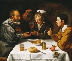 Tavern Scene with Two Men and a Girl