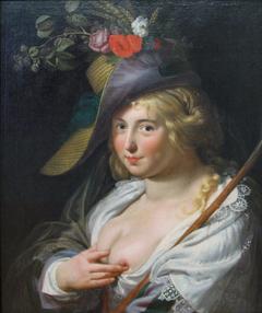 The blond shepherdess