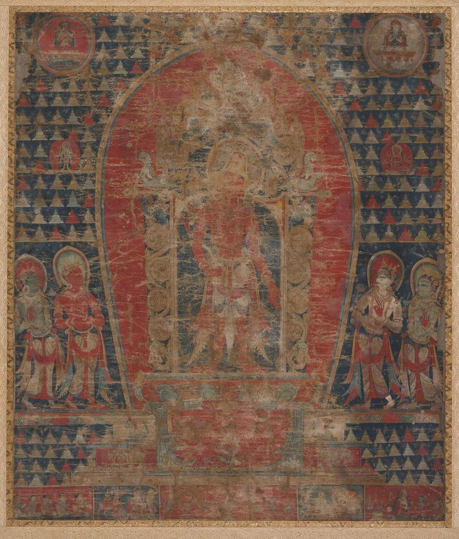 The Bodhisattva Avalokiteshvara and Four Taras