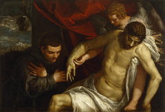 The Dead Christ Supported by an Angel and Adored by a Franciscan
