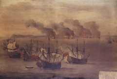 The Destroying of Six Barbary Ships near Cape Spartel
