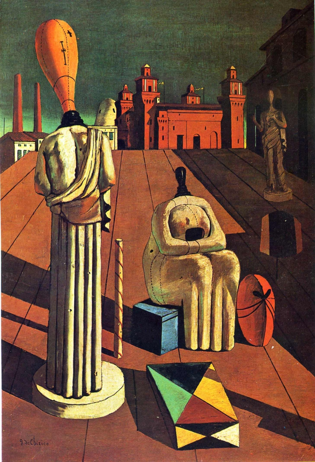 giorgio de chirico and surrealist mythology Giorgio de chirico,  subjects from greek mythology  when he returned to paris in 1925 to take part in the first surrealist exhibition at the.