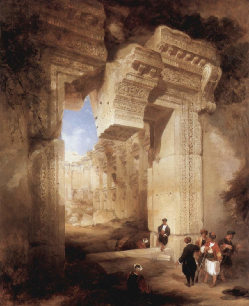The Entrance to the Golden Temple in Baalbeck