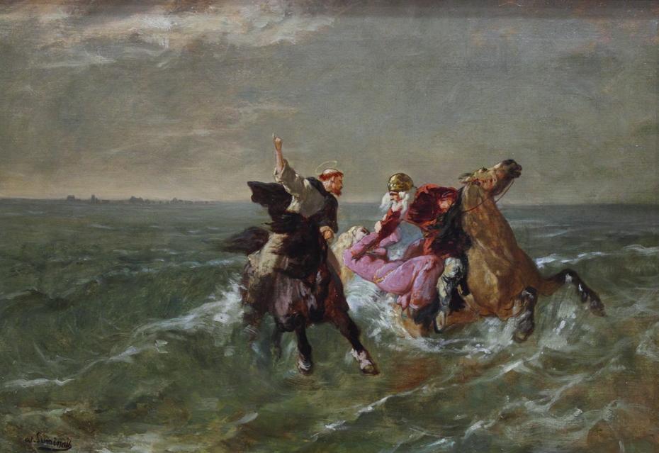 The Flight of St Winwaloe and King Gradlon