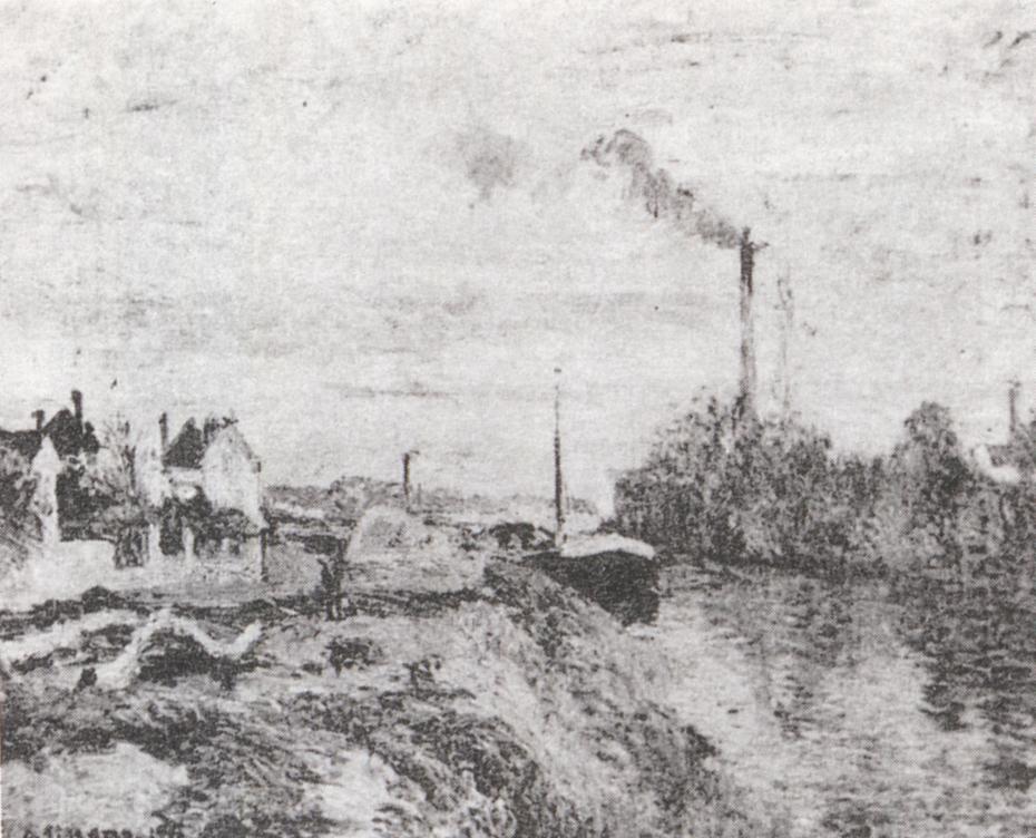 The Quai du Pothuis à Pontoise
