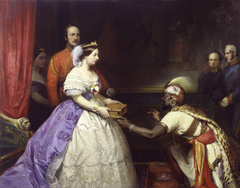 'The Secret of England's Greatness' (Queen Victoria presenting a Bible in the Audience Chamber at Windsor)
