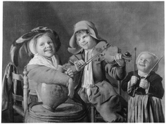 Three Children playing Music