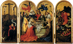 Triptych with the Entombment of Christ