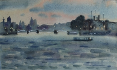 Twilight, Neva river