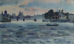 Twilight, Neva river