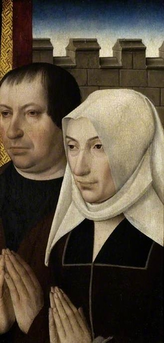 Two donors from a wing of an altarpiece