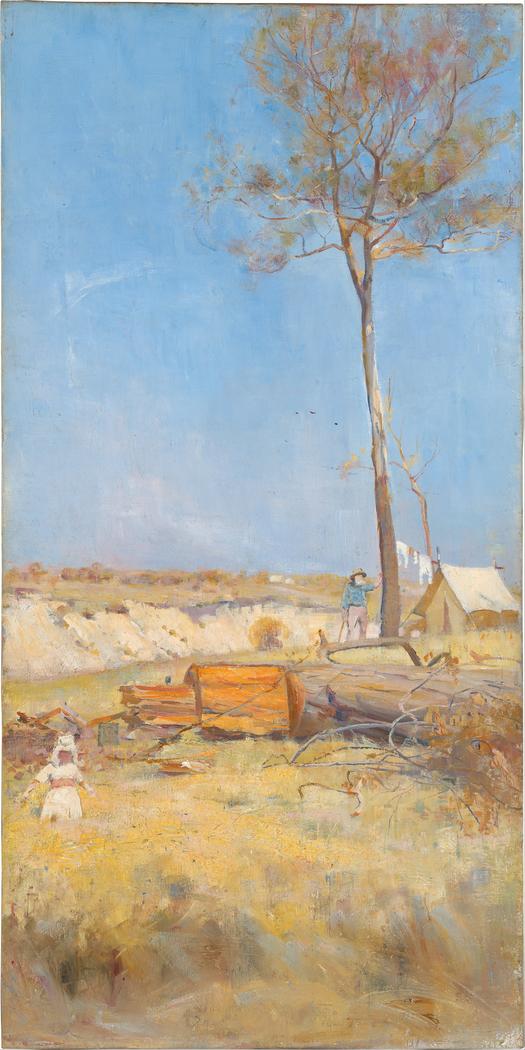 Under a southern sun (Timber splitter's camp)