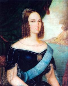 Unfaithful portrait of Brazilian Empress Teresa Cristina (1822–1889)