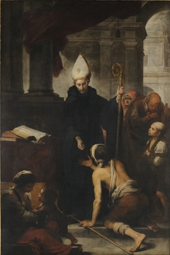 Thomas of Villanova giving alms to the poors