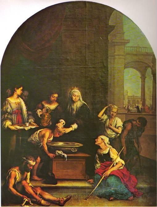 Saint Elisabeth of Hungary healing the poor