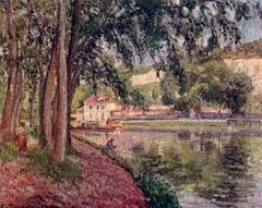 Moret, le canal du Loing, Chemin de halage à Saint-Mammès