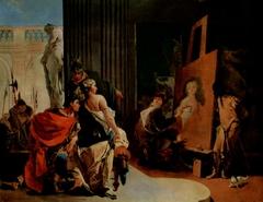 Alexander der Große und Campaspe im Atelier des Apelles