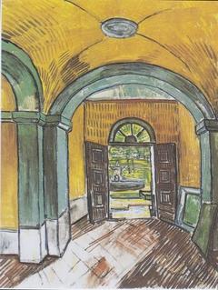 Lobby of the hospital of Saint-Paul