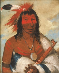 Wá-nah-de-túnk-ah, Big Eagle (or Black Dog), Chief of the O-hah-kas-ka-toh-y-an-te Band