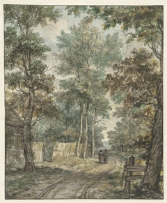 Wandelaars op een bosweg bij Heemstede