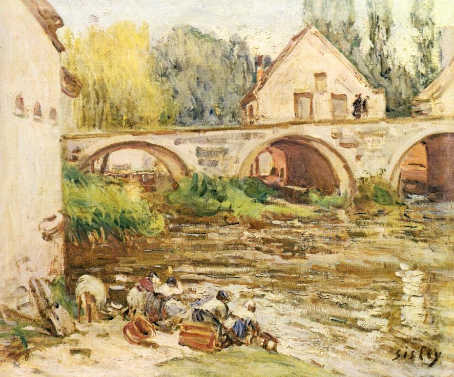 Washerwomen in Moret