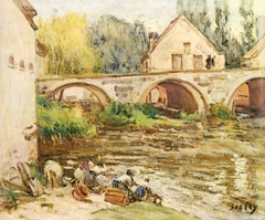 Washerwomen in Moret