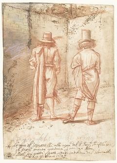 Wederzijdse portretten van Pier Francesco Mola en Niccolo Simonelli