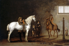 White Horse in a Riding School
