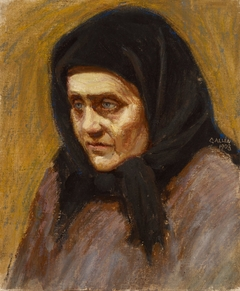 Woman with a Black Scarf