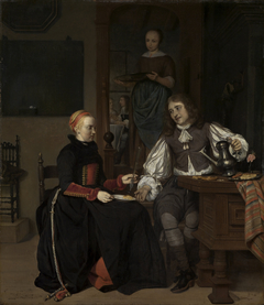 Young Couple at Breakfast
