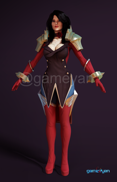 3D Character Design Services by 3D Game Art Studio - Female Fantacy Warrior Character